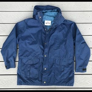 Woolrich Vintage Shell Jacket Large Gore Tex Blue